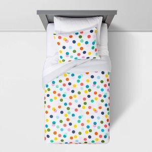 NEW Pillowfort Confetti Cool Dot Comforter Set